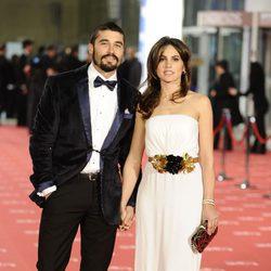Álex García y Verónica Echegui en la alfombra roja de los Goya 2012