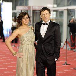 Lucía Jiménez y Benito Sagredo en la alfombra roja de los Goya 2012