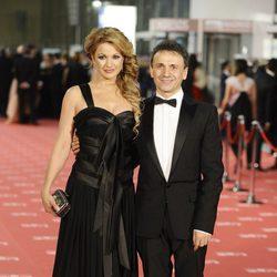José Mota y Patricia Rivas en la alfombra roja de los Goya 2012