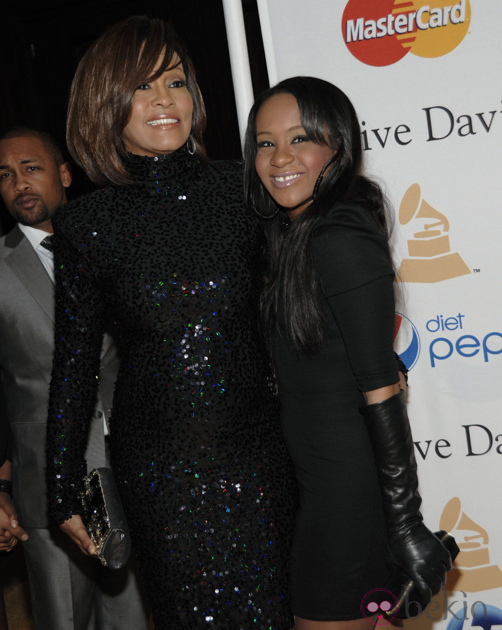 Whitney Houston con su hija Bobbi Kristina