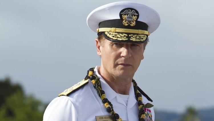 Liam Neeson en la película 'Battleship'