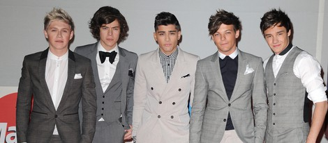One Direction en los premios Brit 2012