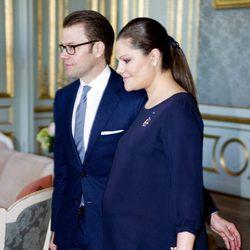 Los Príncipes Victoria y Daniel de Suecia en un almuerzo con la Primera Ministra de Finlandia