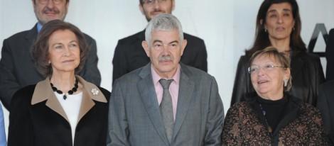 La Reina Sofía, Pasqual Maragall y Diana Garrigosa en Barcelona
