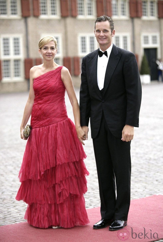 La Infanta Cristina e Iñaki Urdangarin en el cumpleaños de Guillermo Alejandro de Holanda