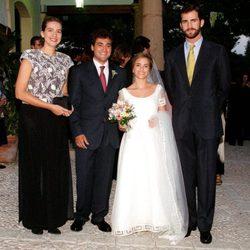 La Infanta Cristina y el Príncipe Felipe en la boda de Pepote Ballester