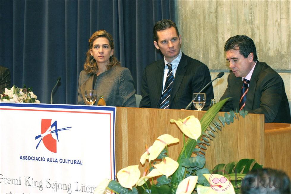 La Infanta Cristina e Iñaki Urdangarin con Jaume Matas
