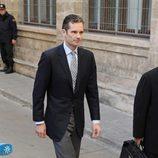 Iñaki Urdangarín entra a declarar andando al juzgado de Palma
