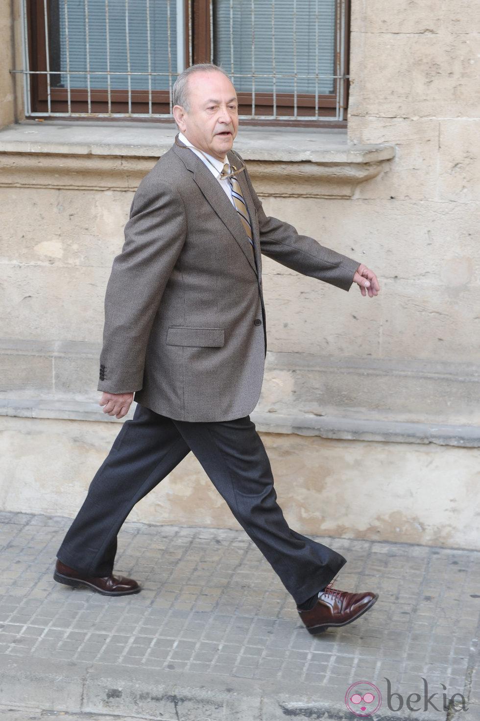 El juez José Castro a su llegada al juzgado de Palma de Mallorca