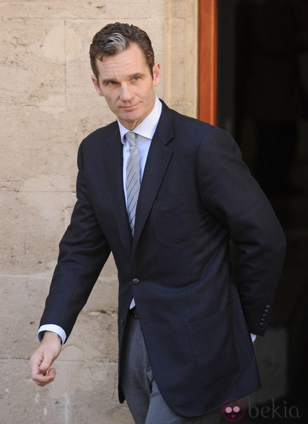 Iñaki Urdangarín sale del juzgado tras su declaración