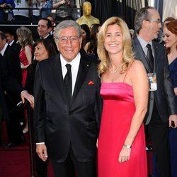 Tony Bennett en la alfombra roja de los Oscar 2012