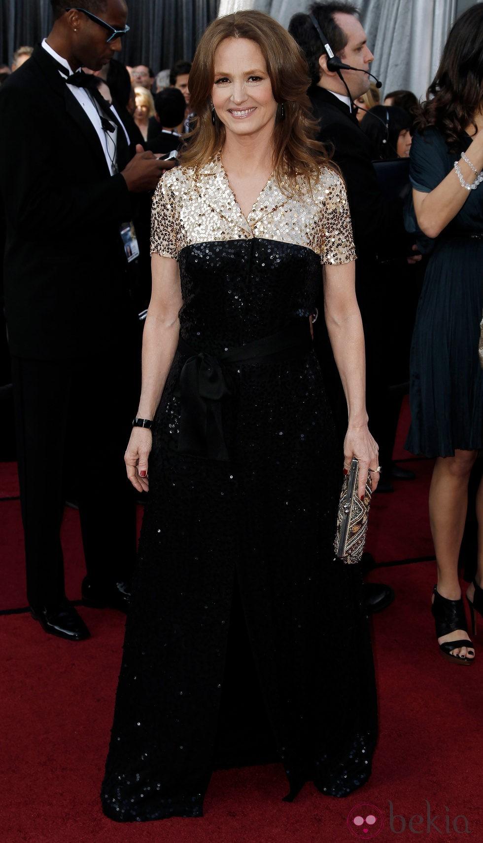 Melissa Leo en la alfombra roja de los Oscar 2012