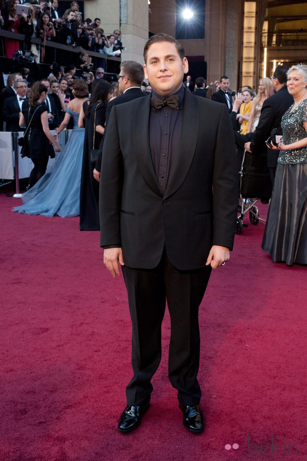 Jonah Hill en la alfombra roja de los Oscar 2012