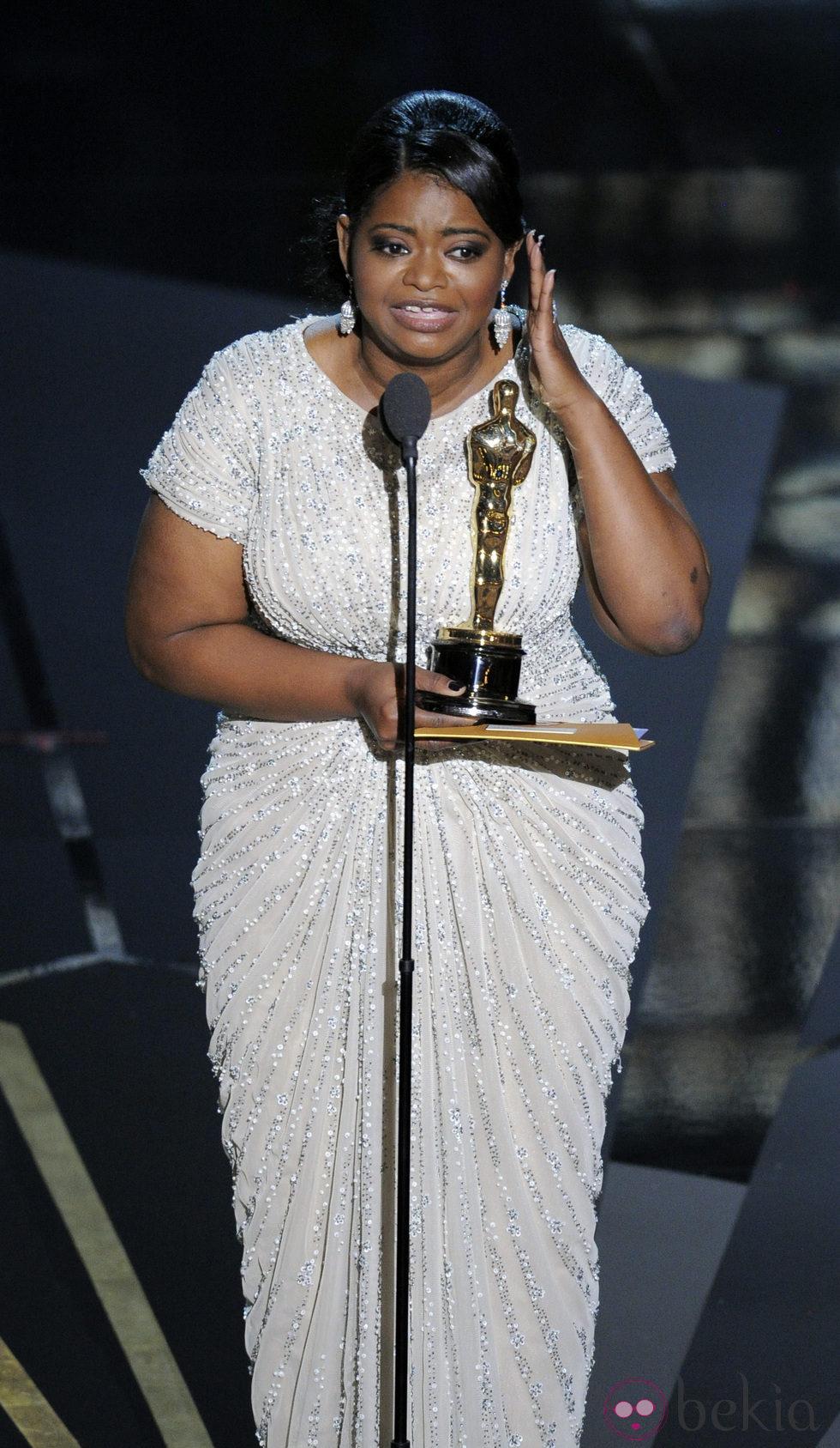 Octavia Spencer recoge su Oscar 2012 a Mejor Actriz de Reparto