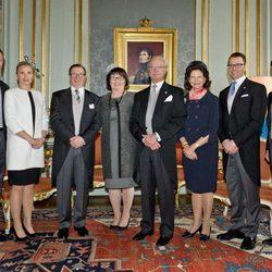 Los Reyes de Suecia, los Príncipes Daniel y Carlos Felipe y los Westling