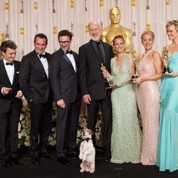 El equipo de 'The Artist' en los Oscars 2012