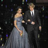 Penélope Cruz y Owen Wilson en la gala de los Oscar 2012