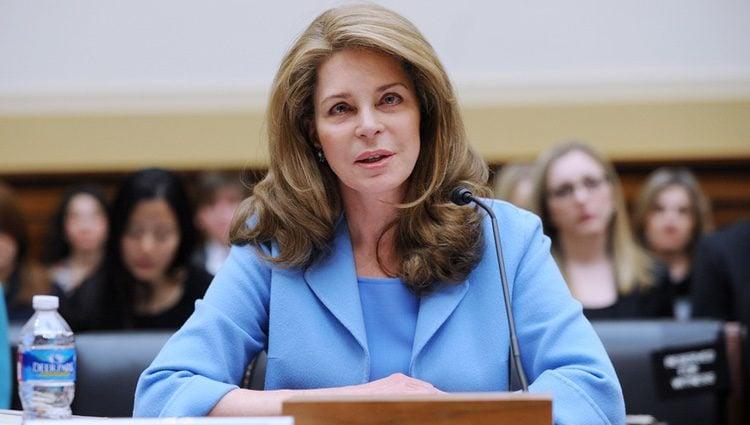 Noor de Jordania en el Capitolio de Washington
