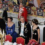 El Rey de Noruega, la Reina de Suecia, el Rey de Grecia, la Princesa de Dinamarca y Pentti Arajärvi