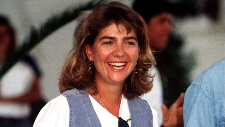 La Infanta Cristina en el Náutico de Palma de Mallorca en los años 90