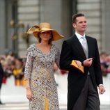 Los Duques de Palma en la boda del Príncipe Felipe en 2004