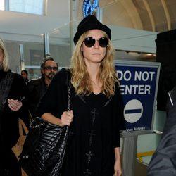 Heidi Klum en el aeropuerto de Los Ángeles