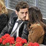Sara Carbonero e Iker Casillas viendo un partido de tenis