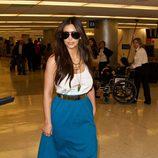 Kim Kardashian en el aeropuerto de Miami