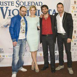 Alberto Amarilla y Soraya Arnelas en la presentación de 'Triste soledad de un violinista'