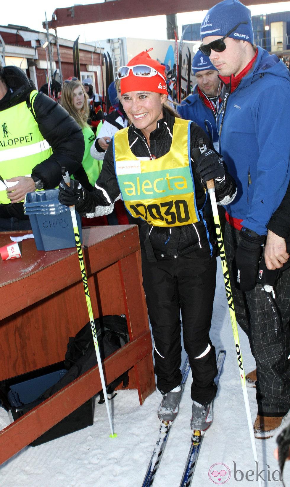 Pippa Middleton disputa la carrera Vasaloppet