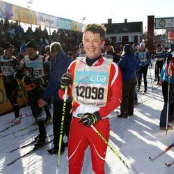 Federico de Dinamarca disputa la carrera Vasaloppet