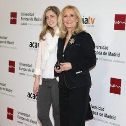 Nieves Herrero en el homenaje a los 'Tesoros vivos de la televisión'