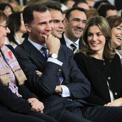 Los Príncipes de Asturias en el homenaje a los 'Tesoros vivos de la televisión'