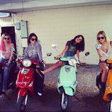 Selena Gomez y Vanessa Hudgens en el rodaje de 'Spring Breakers'