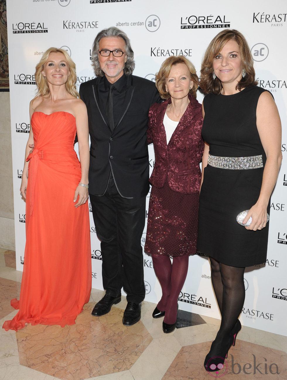 Cayetana Guillén Cuervo, Alberto Cerdán, Elena Salgado y Arantxa Sánchez Vicario