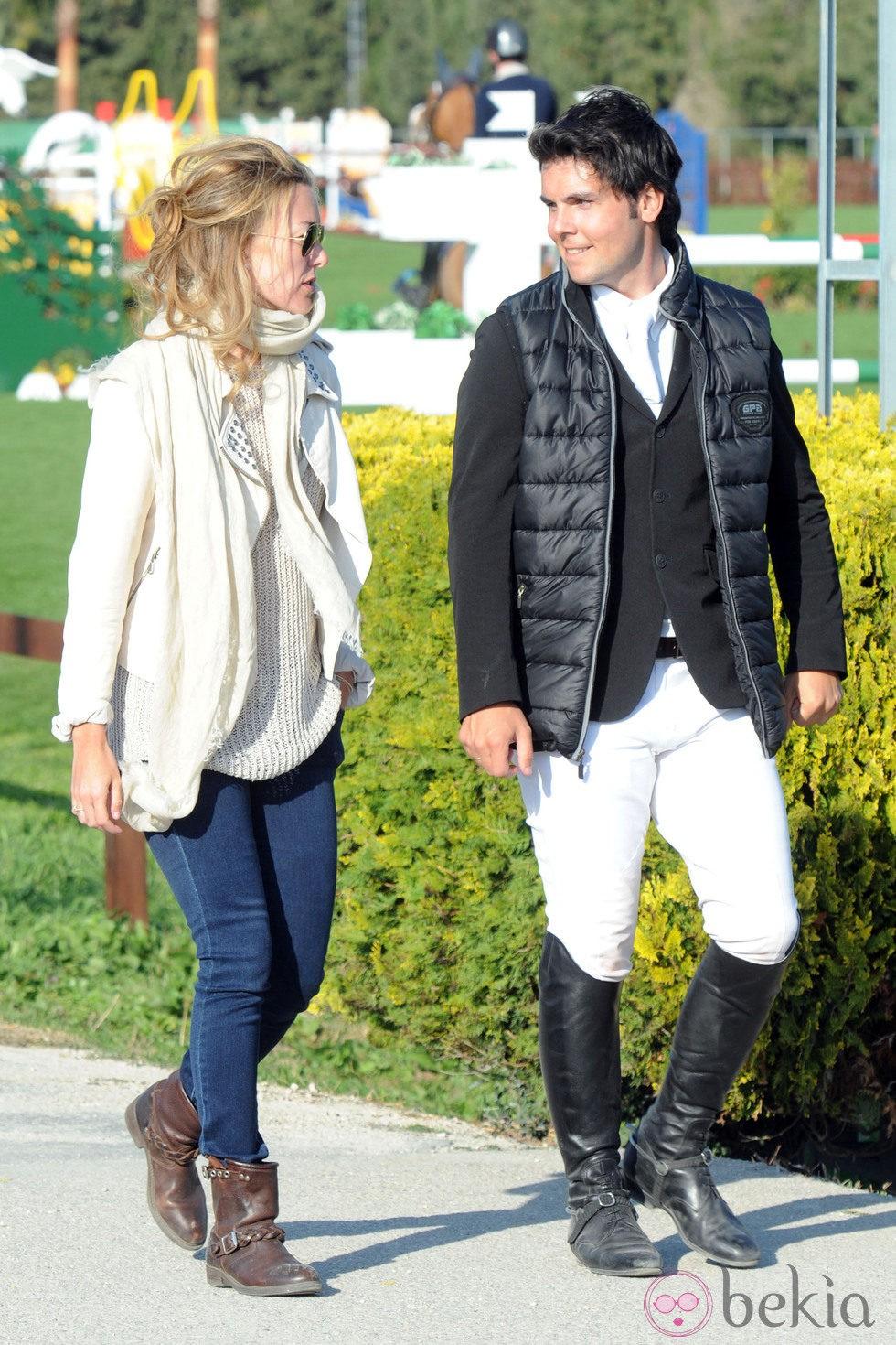 Marta Ortega y Sergio Álvarez en el Circuito Hípico del Sol de Cádiz