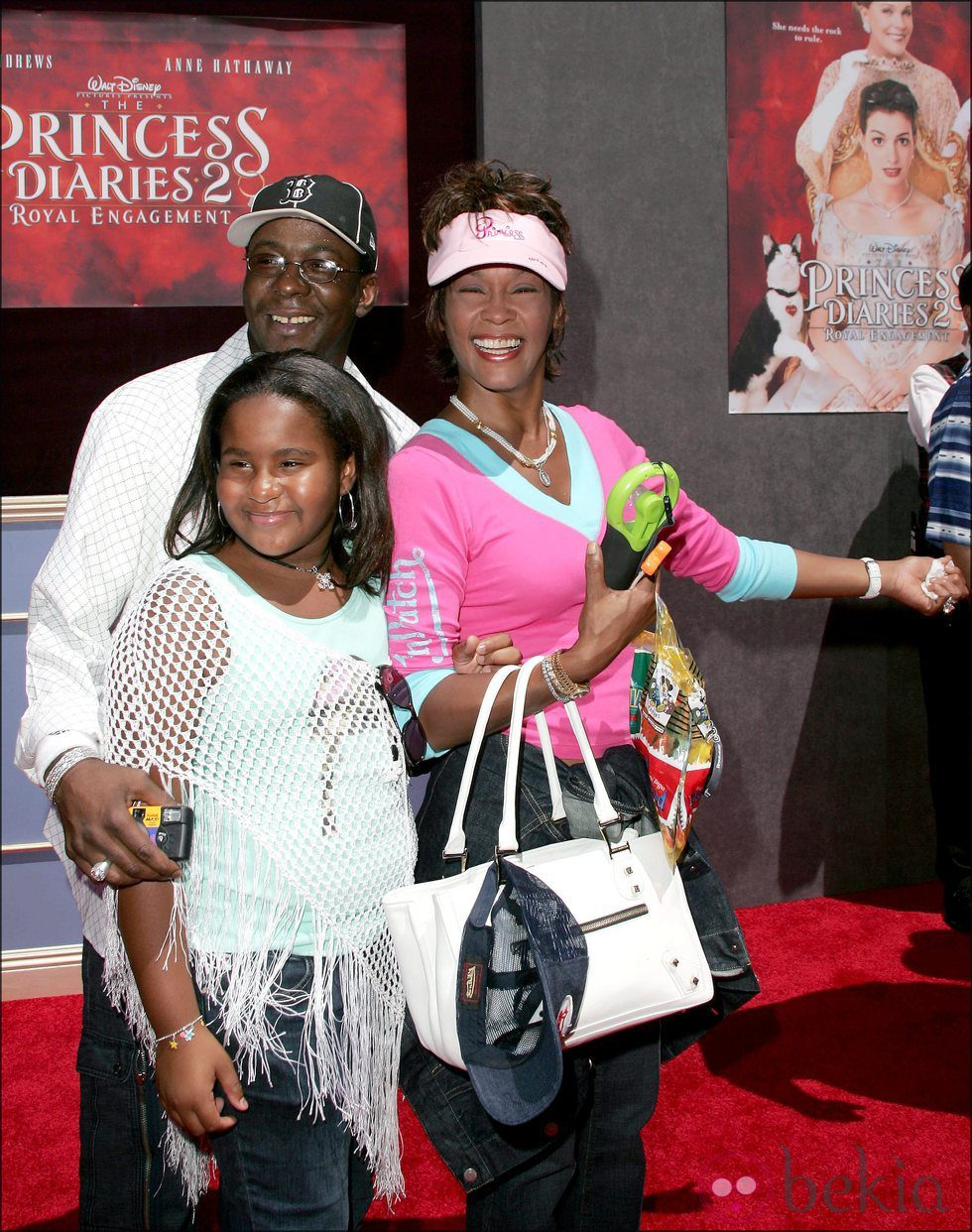 Bobby Brown, Whitney Houston y su hija Bobbi Kristina