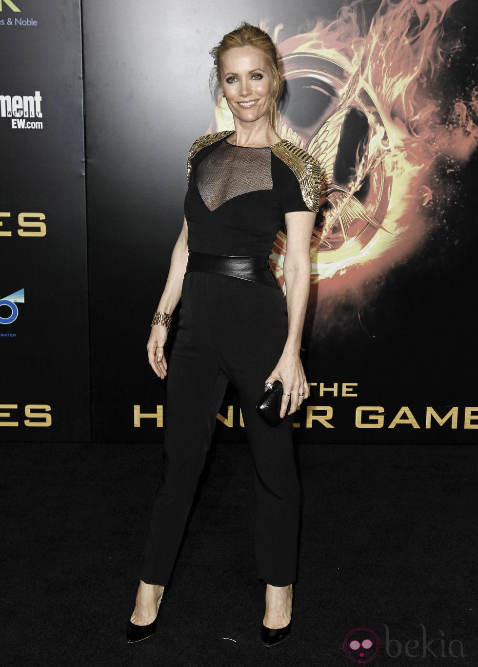 Leslie Mann en el estreno de 'Los juegos del hambre' en Los Ángeles