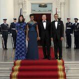 Samantha Cameron, Michelle Obama, David Cameron y Barack Obama en la Casa Blanca