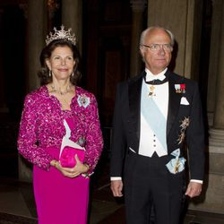 Los Reyes de Suecia en una cena de gala en Estocolmo