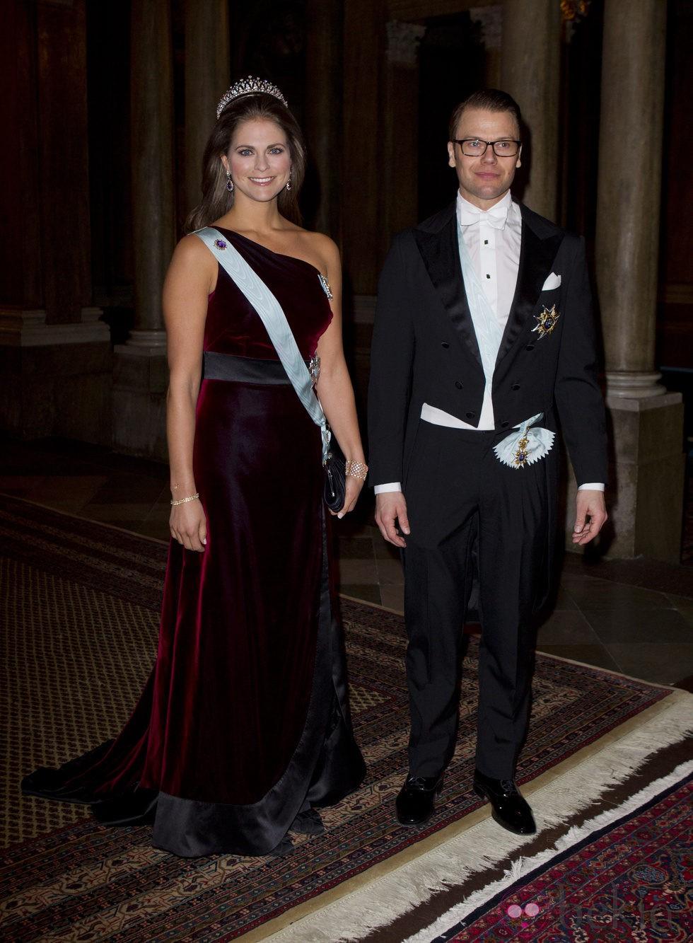 Magdalena de Suecia y el Príncipe Daniel en una cena de gala en Estocolmo