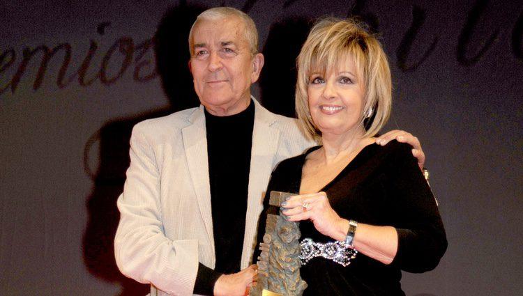 Paco Valladares y María Teresa Campos en los premios Jubilo 2009