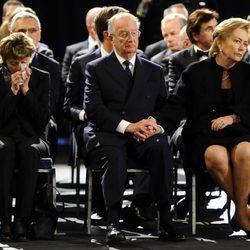 Los Reyes de Bélgica y los Príncipes de Holanda en el funeral de las víctimas de Suiza