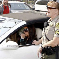 Britney Spears multada por un policía
