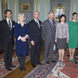 La Familia Real Sueca, el Príncipe de Gales y la Duquesa de Cornualles