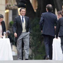 Álvaro Fuster a su llegada a su boda con Beatriz Mira