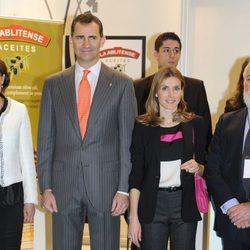 Los Príncipes de Asturias en la inauguración de Alimentaria 2012