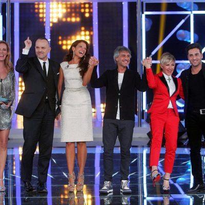 Paula Vázquez, Miguel Bosé, Natalia Jiménez, Sergio Dalma, Ana Torroja y David Bustamante en 'El número uno'