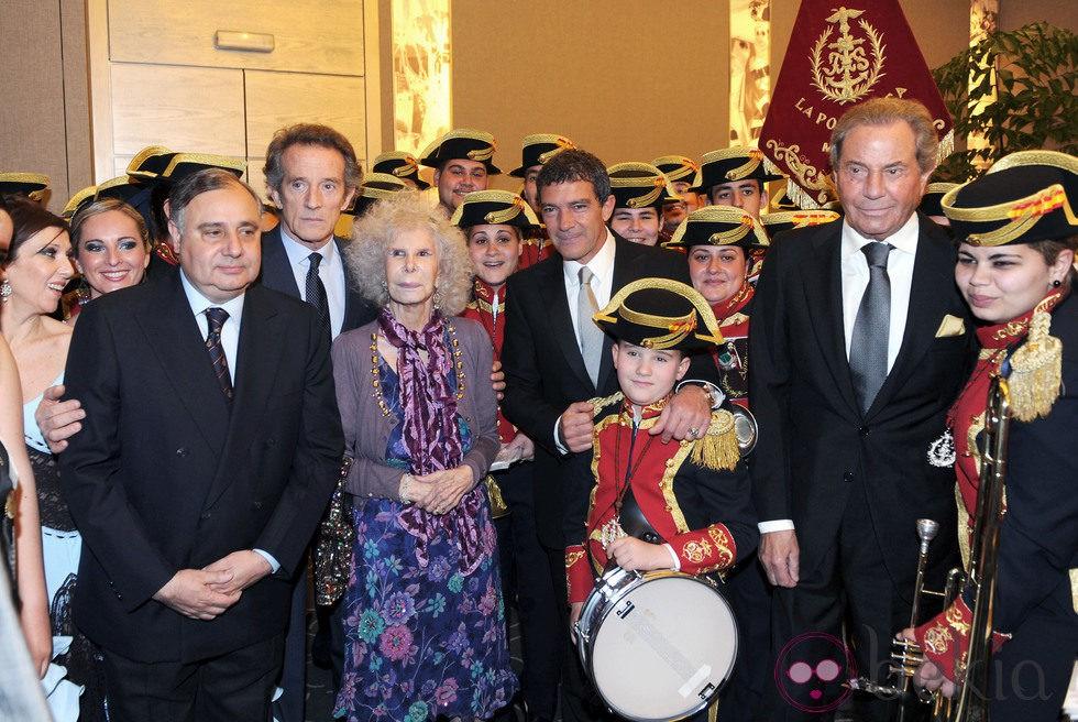 Fernando Martínez de Irujo, los Duques de Alba, Antonio Banderas y Arturo Fernández