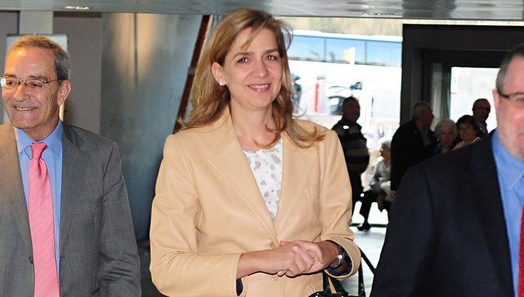 La Infanta Cristina inaugura una exposición de CosmoCaixa en Barcelona